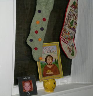 St. Nic Stocking and Book (Large)