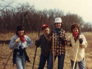 Sally Rigler, Deanna Furtkamp, Anita Tarzian & ___ Prairie Burn